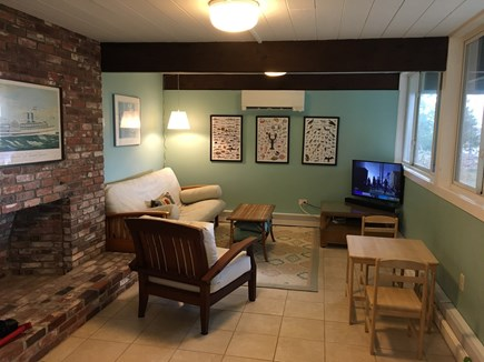 Pocasset, Monument Beach Pocasset vacation rental - Part of Family Room with cable TV and fantastic water views.
