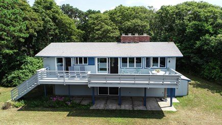 Pocasset, Monument Beach Pocasset vacation rental - There is plenty of privacy from the sunny deck