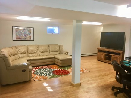 Brewster Cape Cod vacation rental - Lowel level entertainment rm includes poker table & refrigerator