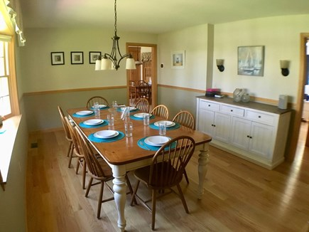 Brewster Cape Cod vacation rental - Dining room seats 8ppl, kitchen seats 4ppl