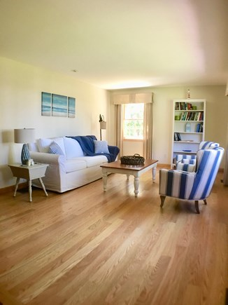 Brewster Cape Cod vacation rental - Spacious living room with fireplace (not shown)