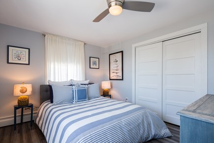 Provincetown Cape Cod vacation rental - Upper level queen bedroom with AC, ceiling fan