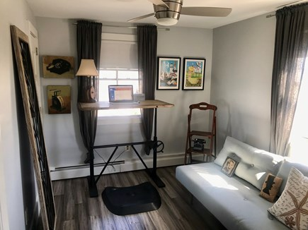 Provincetown Cape Cod vacation rental - Upper level bedroom with futon, ceiling fan, AC. Sleeps 2.