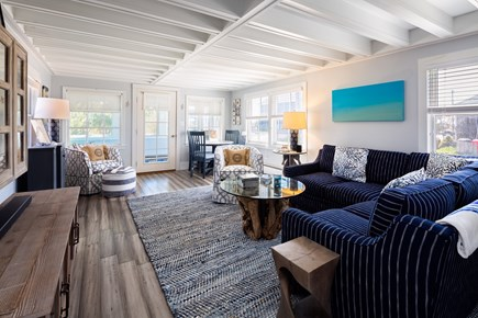 Provincetown Cape Cod vacation rental - Gorgeous main living area with large flat screen TV