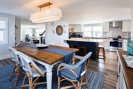 Provincetown Cape Cod vacation rental - Dining for 8 in beautifully remodeled kitchen
