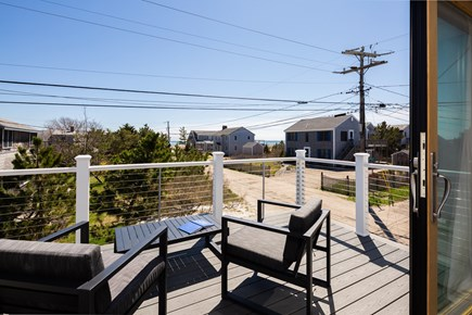 Provincetown Cape Cod vacation rental - Master bedroom deck - enjoy bay views and breezes