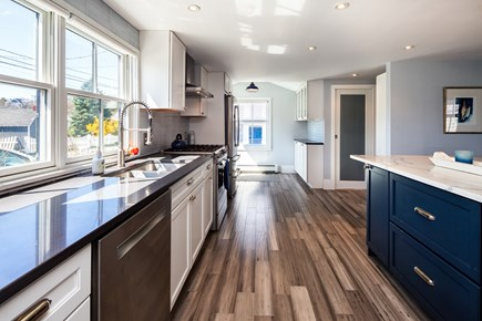 Provincetown Cape Cod vacation rental - Gourmet kitchen with brand new stainless steel appliances