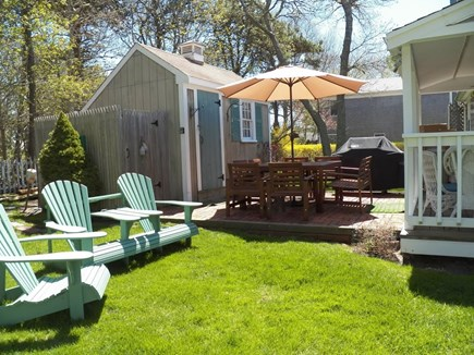 West Dennis Cape Cod vacation rental - Open back yard perfect for family time and outdoor dinners