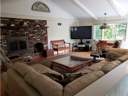 West Yarmouth Cape Cod vacation rental - Comfy Great Room with fireplace and entertainment center