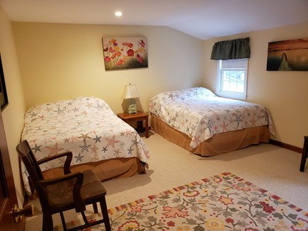 West Yarmouth Cape Cod vacation rental - Roomy upstairs bedroom with 2 double beds