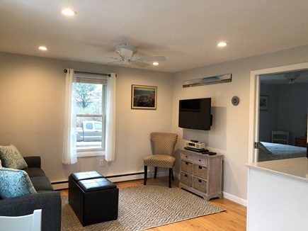 Orleans Cape Cod vacation rental - Living area and entrance to bedroom with pocket door