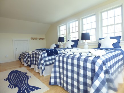 Chatham, .8 to Center Cape Cod vacation rental - Third Floor Bedroom with 4 Twins
