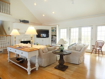 Chatham, .8 to Center Cape Cod vacation rental - Living Area with Flat Screen TV