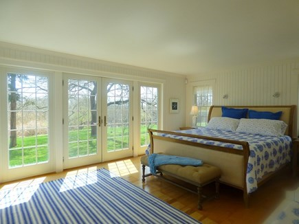 Chatham, .8 to Center Cape Cod vacation rental - Master Bedroom with Sliders out to Patio