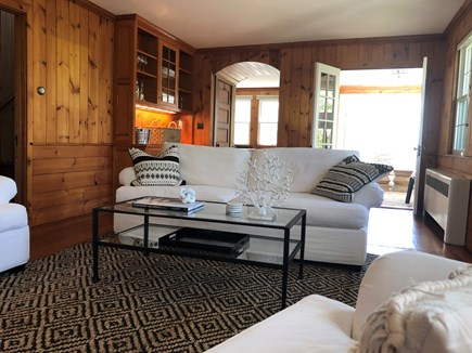 Woods Hole - Gansett Woods Woods Hole vacation rental - Comfortable Knotty Pine Living Room with Stylish Finishings