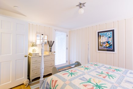 Hyannis Cape Cod vacation rental - Hyannis room, with double bed, door leading to back patio.
