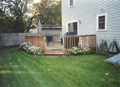Colonial Acres, West Yarmouth Cape Cod vacation rental - Deck with private back yard