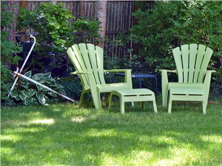 Colonial Acres, West Yarmouth Cape Cod vacation rental - Adirondeck chairs in backyard