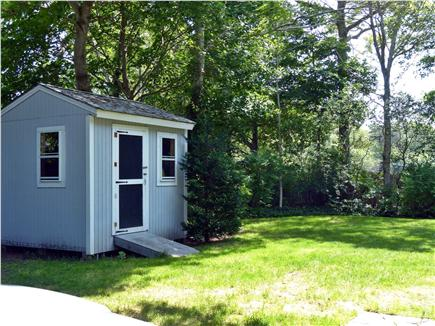 Colonial Acres, West Yarmouth Cape Cod vacation rental - Large yard to enjoy with shed for storage of bikes etc.