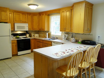 Colonial Acres, West Yarmouth Cape Cod vacation rental - Spacious kitchen with breakfast bar seating