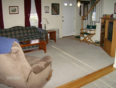 Colonial Acres, West Yarmouth Cape Cod vacation rental - Living room view from dining area