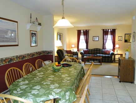 Colonial Acres, West Yarmouth Cape Cod vacation rental - Dining room adjacent to living room and kitchen