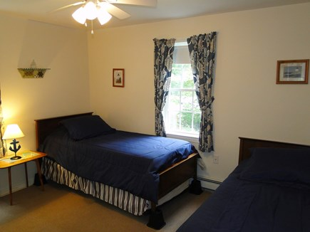 Colonial Acres, West Yarmouth Cape Cod vacation rental - Upstairs bedroom with twin beds plus trundle (sleeps 3)