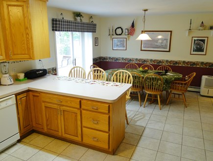 Colonial Acres, West Yarmouth Cape Cod vacation rental - Dining room opens to Deck