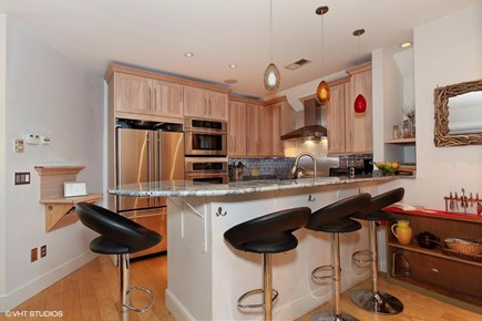 Provincetown Cape Cod vacation rental - Breakfast bar allows viewing of the chef(s) at work