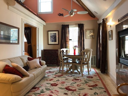 Provincetown Cape Cod vacation rental - The dining area offers a glimpse of the monument