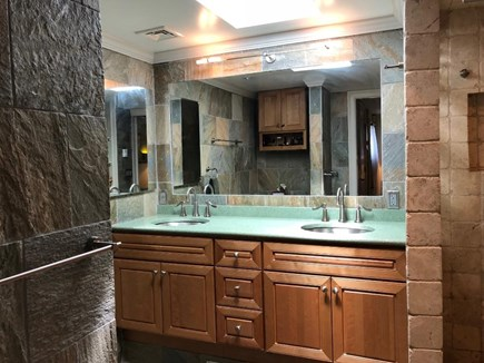 Provincetown Cape Cod vacation rental - Private master bath with dual vanities