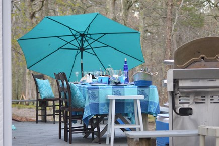 Brewster Cape Cod vacation rental - The deck is perfect for quiet meditation or entertaining a group!
