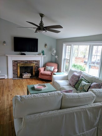 Brewster Cape Cod vacation rental - High quality, super comfortable sofa you will sink right into!