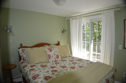 Brewster Cape Cod vacation rental - Romantic queen guest room with slider to deck