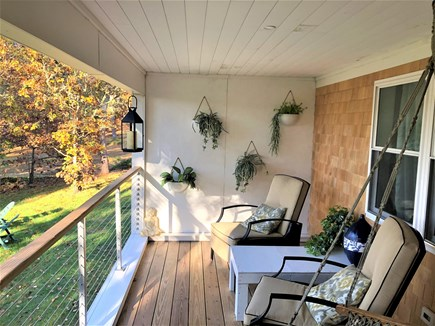 Eastham Cape Cod vacation rental - One of your two private areas overlooking the pond
