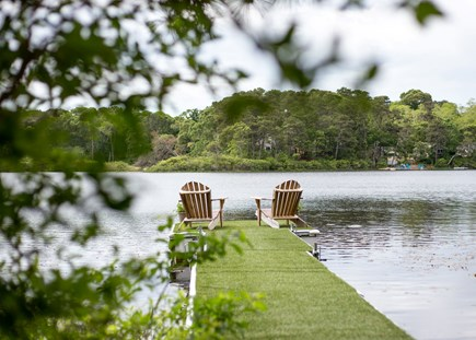 Eastham Cape Cod vacation rental - Our own dock on Minister's Pond
