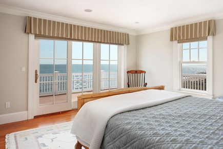 East Falmouth Cape Cod vacation rental - 1st Bedroom on second floor with Deck overlooking Ocean