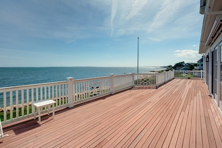 East Falmouth Cape Cod vacation rental - Second floor large Deck with gorgeous views and sitting area
