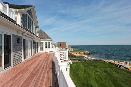 East Falmouth Cape Cod vacation rental - 2nd floor Deck runs the length of the back side of the home