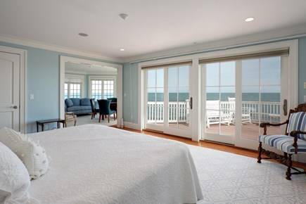 East Falmouth Cape Cod vacation rental - 2nd Floor Master Bedroom with amazing views and deck access