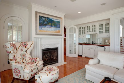East Falmouth Cape Cod vacation rental - Wet bar in living room for entertaining