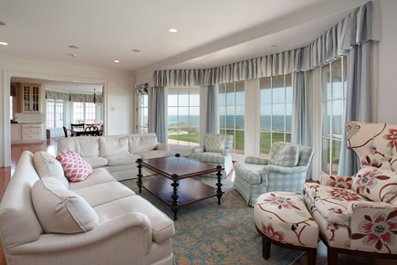 East Falmouth Cape Cod vacation rental - Living room with spectacular views