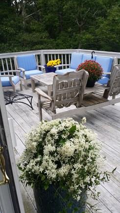 Wellfleet Cape Cod vacation rental - Open deck .