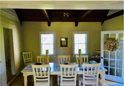 Dennis Village Cape Cod vacation rental - Sunny vaulted ceiling dining room