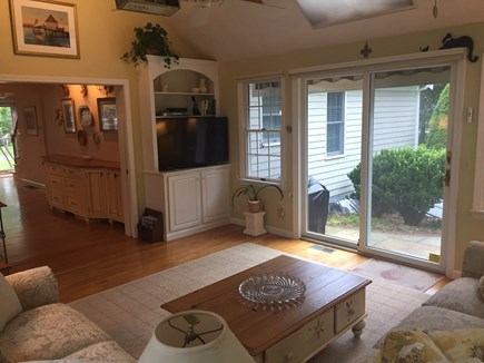 West Harwich Cape Cod vacation rental - Sliders from family room to private patio