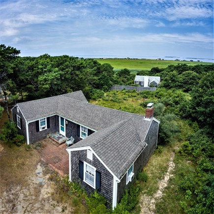 Eastham Cape Cod vacation rental - Overhead view of cottage