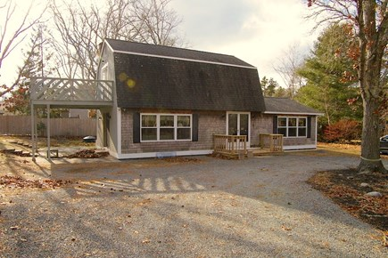 North Eastham Cape Cod vacation rental - Front yard, on quiet sand road.