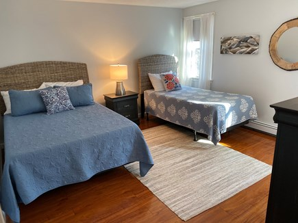 North Eastham Cape Cod vacation rental - Upstairs 2nd bedroom: full size bed & twin beds, A/C.