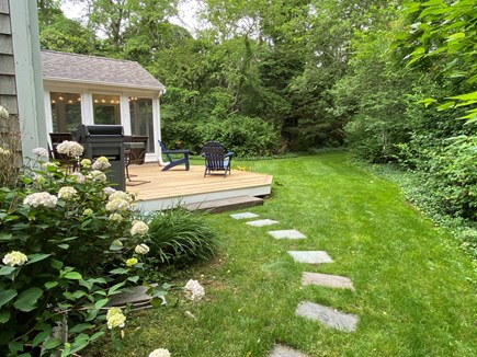 North Eastham Cape Cod vacation rental - Serene and private back yard and deck.