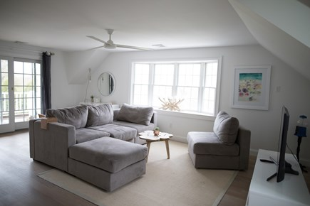 Chatham Cape Cod vacation rental - Upstairs Family / TV Room With Balcony And Views of Oyster Pond